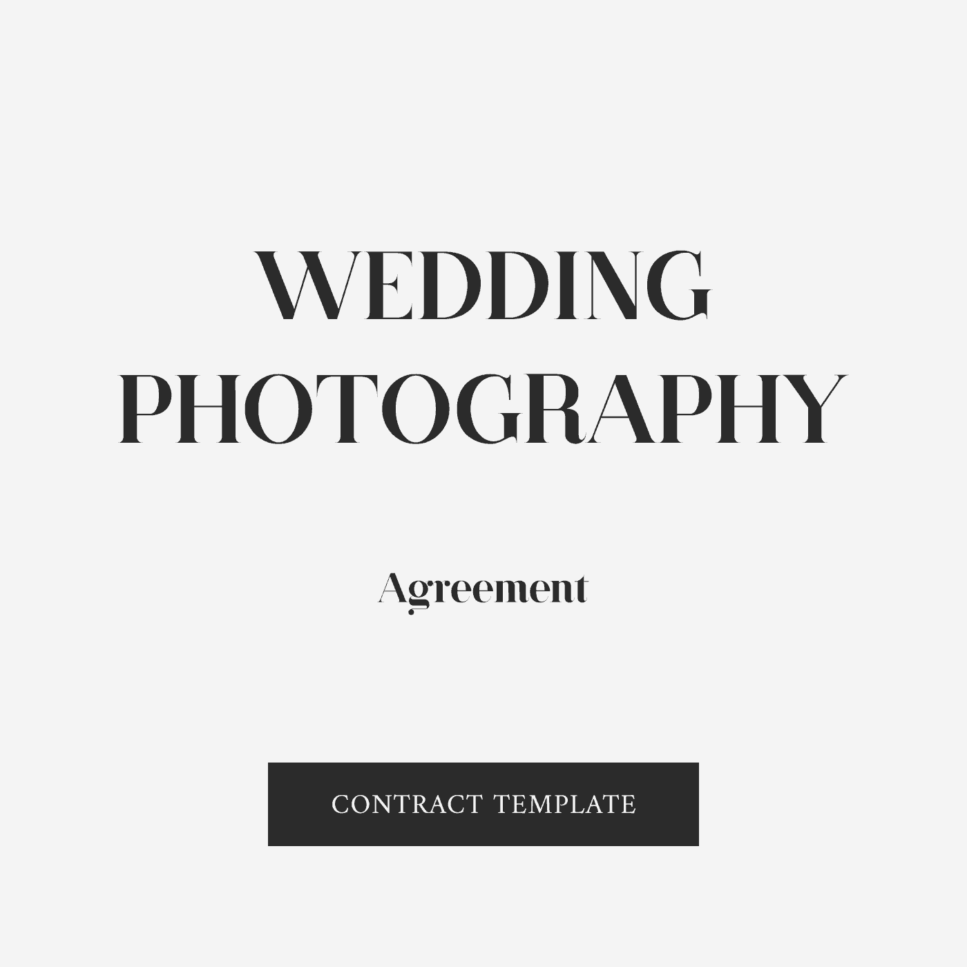 Wedding Photography Agreement Template Zara Watson Law